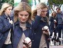 Szczęśliwa Kasia Tusk na jesiennym spacerze. Widać brzuszek? (ZDJĘCIA)
