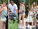Dowbor i Koroniewska zabrali córki do zoo (ZDJĘCIA)