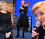 Modna Agata Duda debatuje na imprezie Facebooka (ZDJĘCIA)
