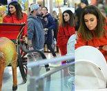 TYLKO U NAS: Siwiec w czerwonym garniturze siedzi w saniach na chałturze (ZDJĘCIA)