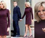 Zakochani Macronowie trzymają się za ręce przed Pałacem Prezydenckim (ZDJĘCIA)