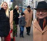 Dorodny Ryszard Kalisz z pulchną żoną idą na imprezę do restauracji (ZDJĘCIA)