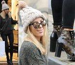 Chodakowska w czapie z pomponem i butach za 5 tysięcy kupuje bieliznę (ZDJĘCIA)