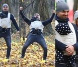 Dubieniecki na spacerze w lesie z żoną i synkiem. Prokurator zabrał mu porsche... (ZDJĘCIA)