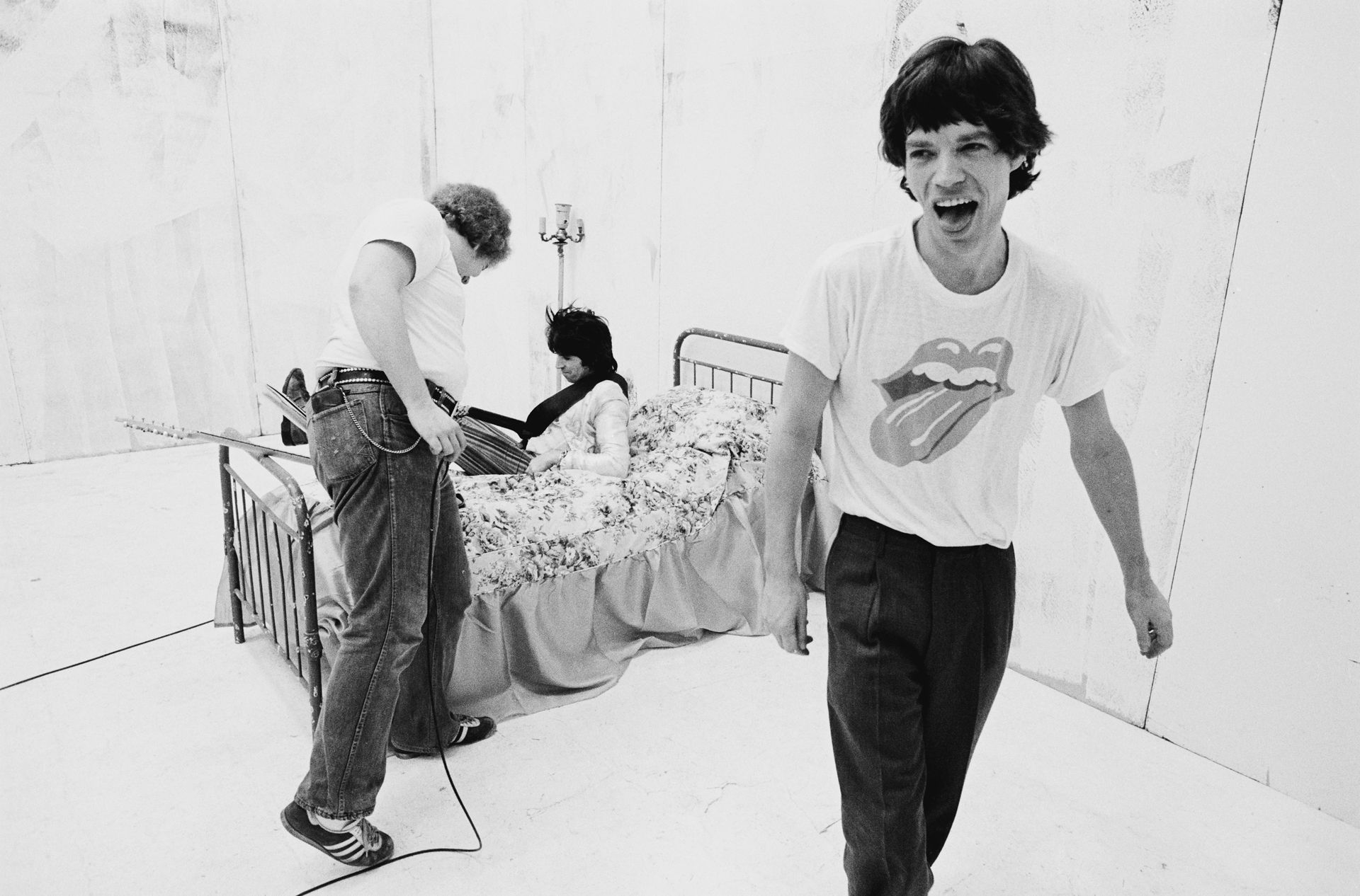 Keith Richards i Mick Jagger podczas kręcenia teledysku do Respectable / 1978