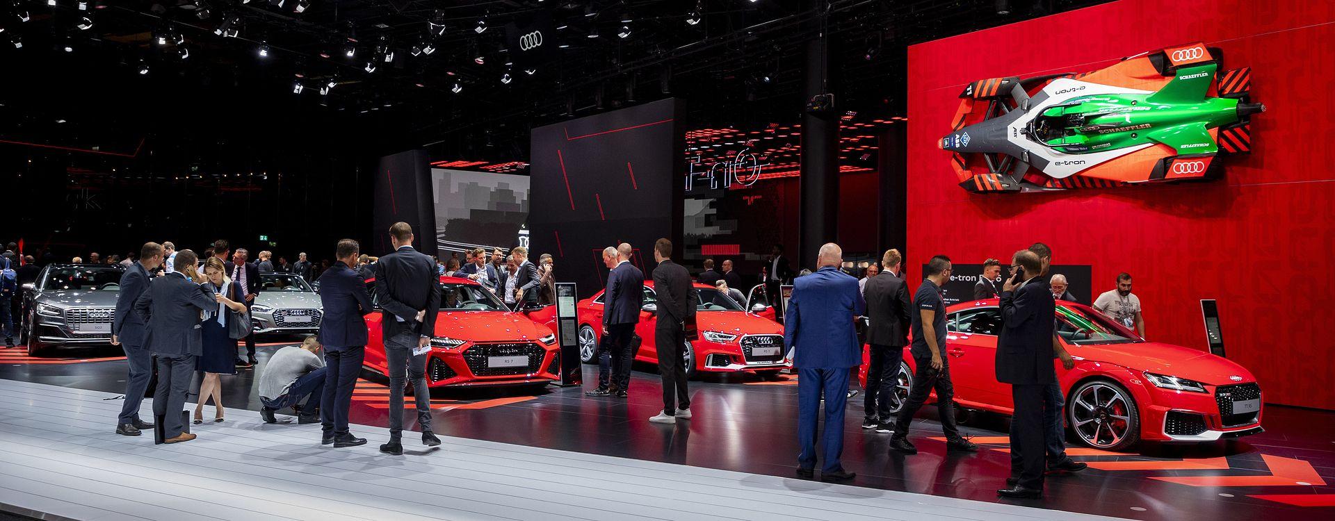 Stoisko Audi na IAA Frankfurt 2019