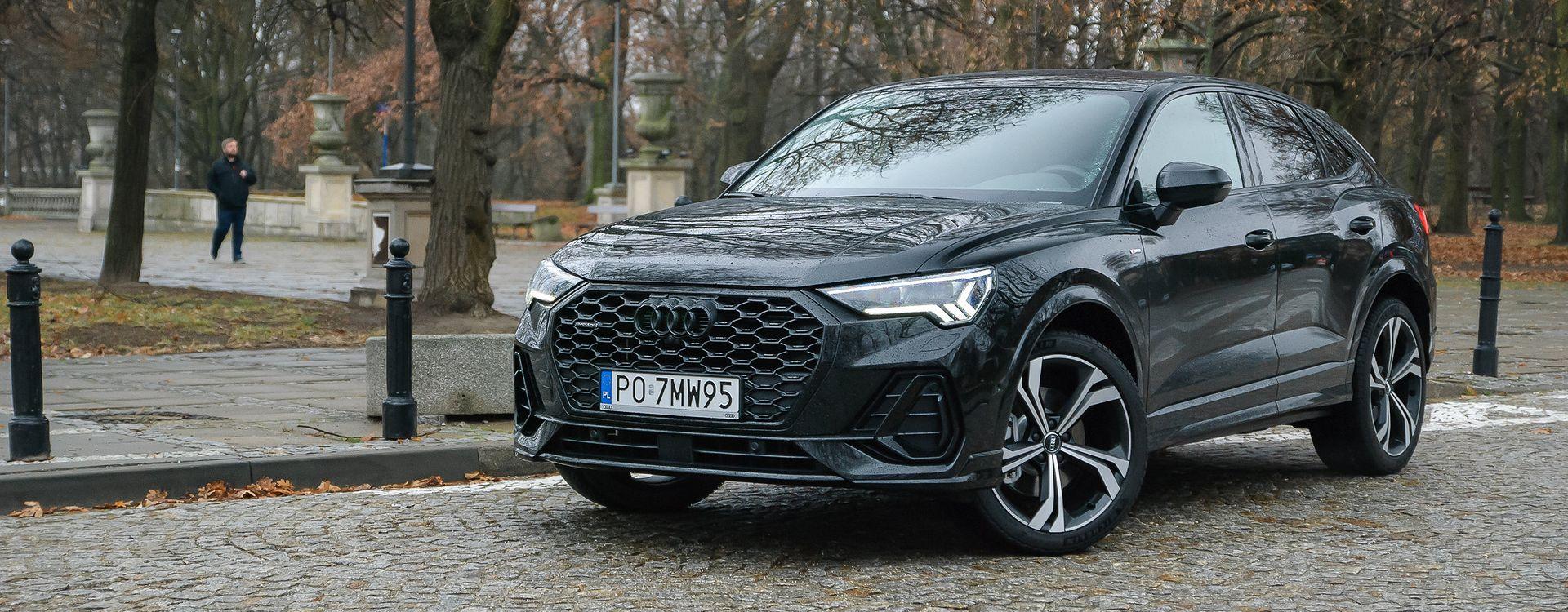 Audi Q3 Sportback 45 TFSI nie ma, wbrew pozorom, silnika 4,5 litra