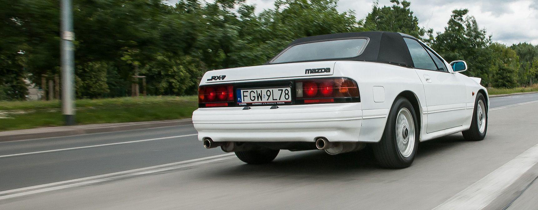 Mazda RX-7 (FC) trafiała głównie na rynek amerykański, stąd też inspiracja liniami... Porsche