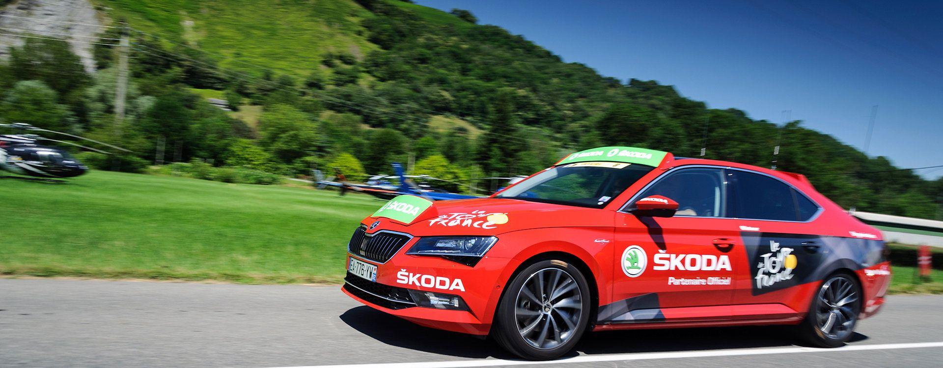 Škoda Superb dyrekcji wyścigu na Tour de France 2016