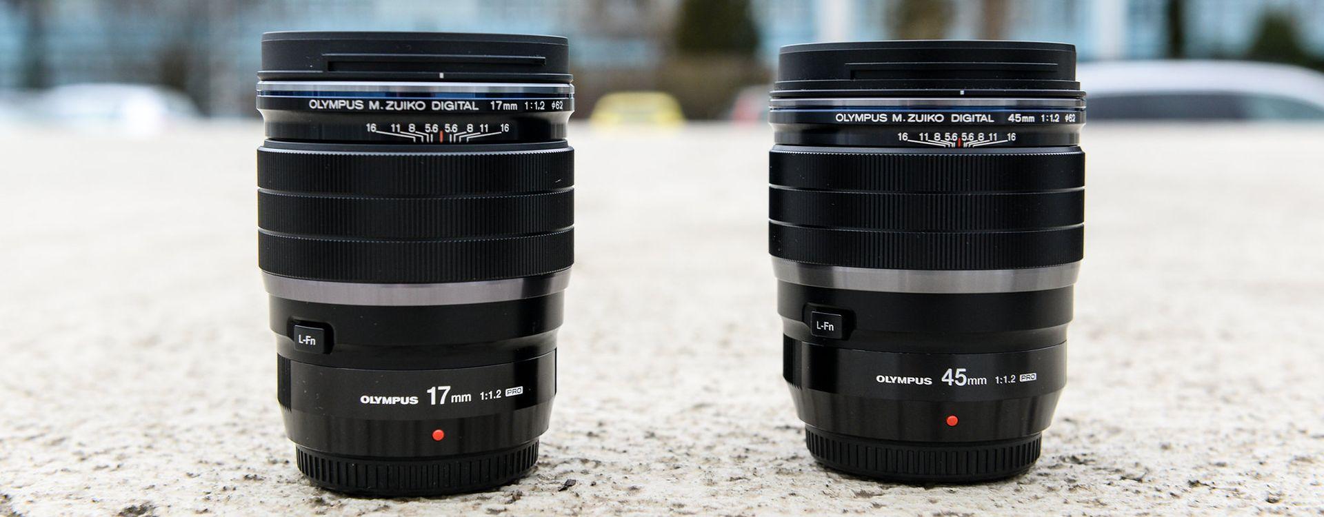 Olympus ED 17 mm f/1.2 PRO oraz 45 mm f/1.2 PRO