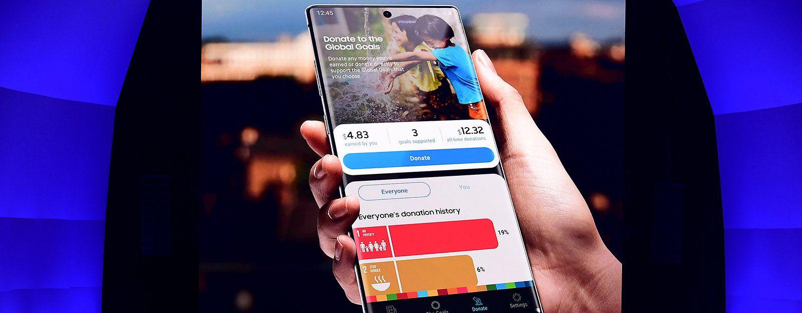 Galaxy Note 10 podczas prezentacji