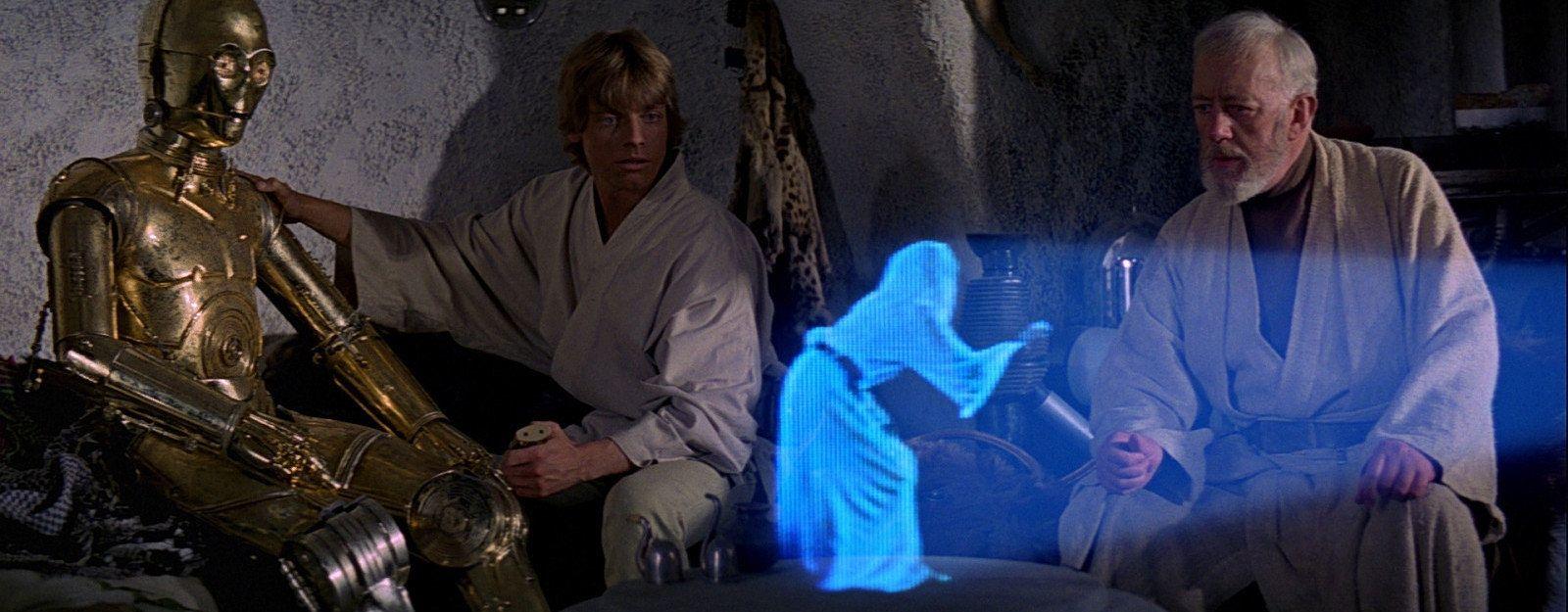 """Hologramy są doskonale znane fanom """"Gwiezdnych wojen"""""""