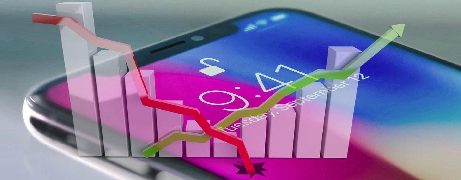 """iPhone X (modyfikowane zdjęcie z użyciem """"Wykres"""" z pixabay.com)"""