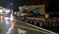 Zatrzymane dwie lawety z czołgami. 25 tys. złotych kary