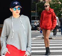 Bluzy z kapturem wciąż są modne! Jak noszą je modelki?