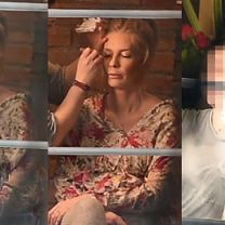 Ciężarna Pazura relaksuje się u makijażystki (WIDEO)