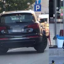Deląg zostawił samochód na środku ulicy… i poszedł na zakupy (WIDEO)