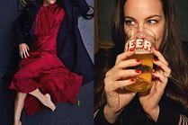 Liv Tyler pozuje ze szklanką piwa
