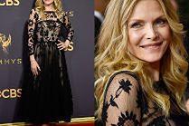 59-letnia Michelle Pfeiffer w prześwitującej sukni
