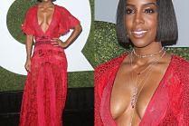 """Głęboki dekolt Kelly Rowland na gali """"GQ"""""""