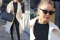 #TRENDY: Gigi Hadid w białym płaszczu