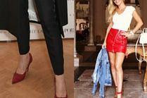 Czerwone buty nadal modne - najciekawsze stylizacje