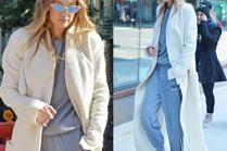#TRENDY: Gigi Hadid w dresie i długim płaszczu