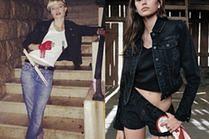Czarne kurtki jeansowe - z czym noszą je celebrytki?