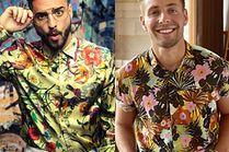 Koszule z egzotycznym wzorem w stylizacjach celebrytów