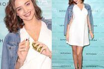 Ciężarna Miranda Kerr promuje swoje kosmetyki