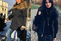 Czarna kurtka zimowa - ponadczasowy trend w stylizacjach celebrytek