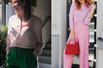 Z czym celebrytki noszą eleganckie spodnie?