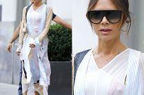 Zmarznięta Victoria Beckham w zwiewnej sukience za 10 tysięcy