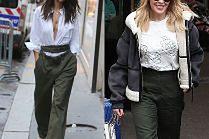 Modne spodnie khaki w stylizacjach celebrytek
