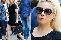 Szczupła Lady Gaga w drodze do studia nagraniowego