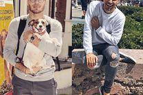 Szare jeansy w stylizacjach celebrytów