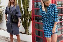 Modne sukienki koszulowe - z czym łączą je gwiazdy?