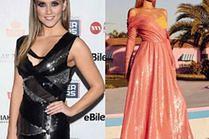 Długie błyszczące sukienki - jakie wybierają celebrytki?