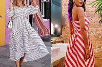 Jakie sukienki midi w stylu retro noszą gwiazdy?