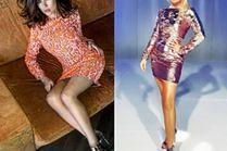 Krótkie błyszczące sukienki - jakie wybierają celebrytki?