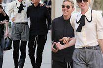 Ellen DeGeneres z żoną na spacerze