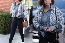 #TRENDY: Selena Gomez w kurtce w kwiatki
