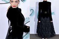 Poważna Rita Ora w żałobnej stylizacji
