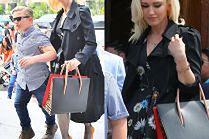 Modna Gwen Stefani wychodzi z rodziną z kościoła