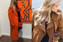 Zamszowe płaszcze damskie w stylizacjach celebrytek