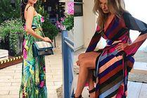 Najbardziej kolorowe sukienki na lato w stylizacjach celebrytek