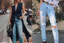 Z czym celebrytki noszą mom jeans?