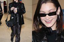 Mroczna Bella Hadid w folii i skórze
