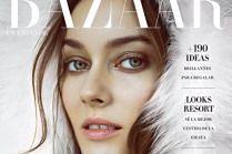 "Monika Jagaciak na okładce ""Harper's Bazaar"""