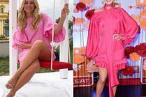 Dziewczęce różowe sukienki w kobiecych stylizacjach gwiazd